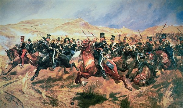 Battle of Balaclava and the Charge of the Light Brigade by Richard Caton Woodville, Jr.