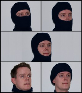 Different ways to wear a balaclava ski mask