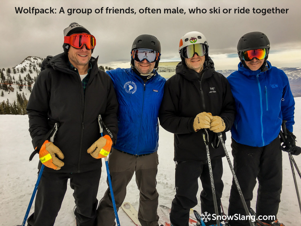 wolfpack skiing definition snowslang