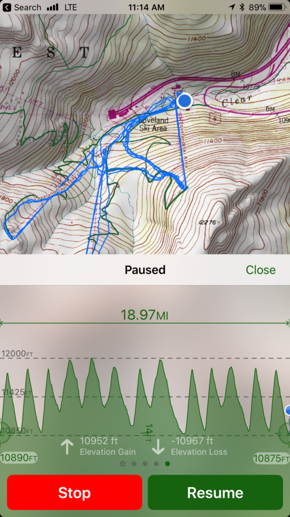 ski apps topo map+ screenshot