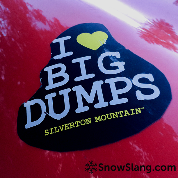 I love big dumps sticker